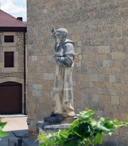Statue of Saint Dominic in the village where he was born, Caleruega, Spain