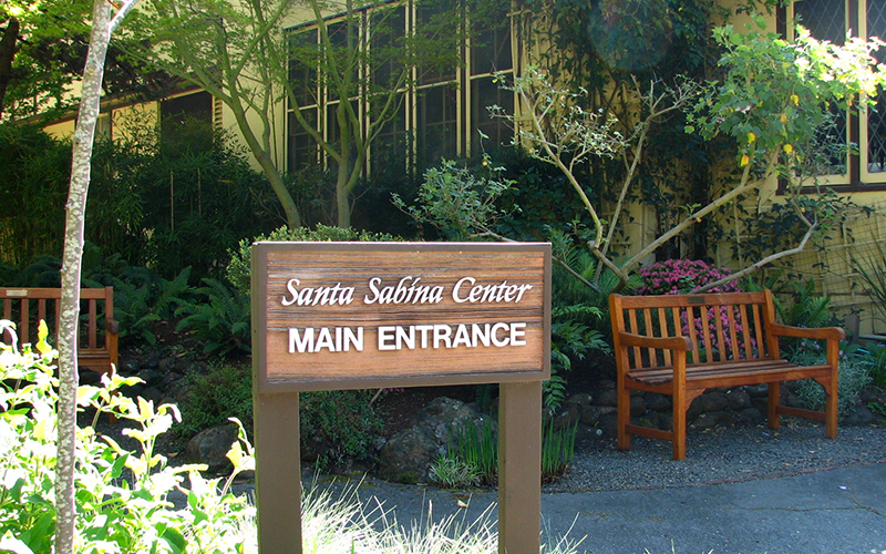 Santa Sabrina Main Entrance Sign