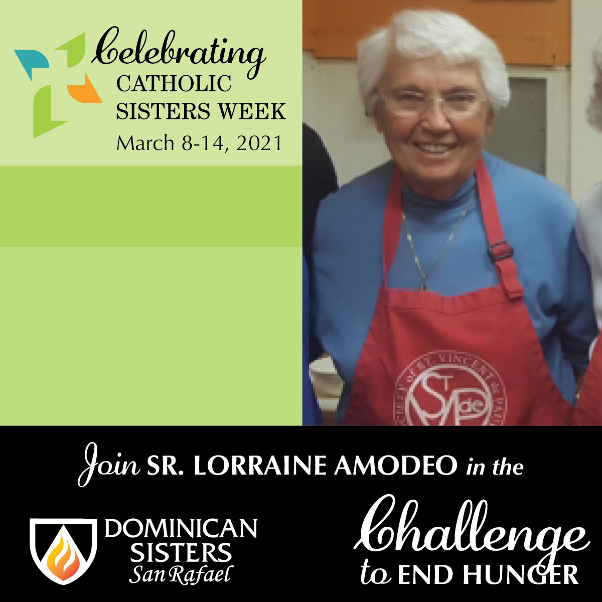 Challenge to End Hunger—Sr. Lorraine Amodeo, OP